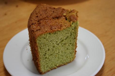 抹茶タイプのシフォンケーキ