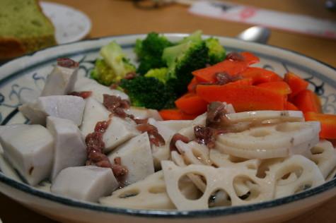 温野菜とアンチョビのサラダ