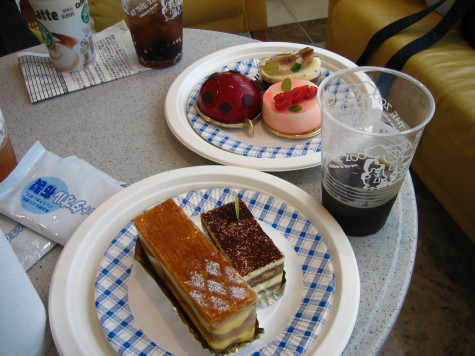 2部のケーキ