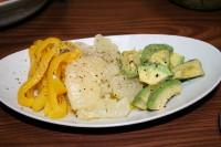 グレープフルーツとパブリカ、アボガドのサラダ