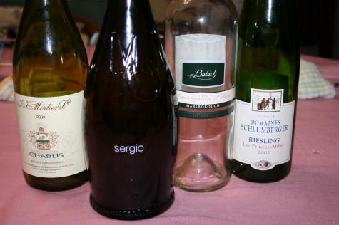 呑み終わったワインの数々