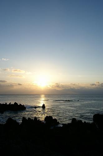 潮吹岩の朝