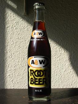 A&W bottole