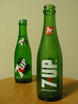 7up bottle-80's