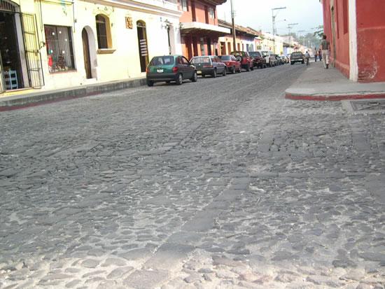 アンティグアの石畳