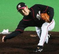 6試合目の登板で早くも5勝(0敗)を挙げたロッテ先発の渡辺俊介