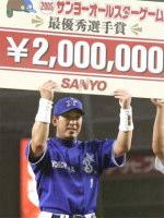 MVPに選ばれた全セ・金城(横浜)