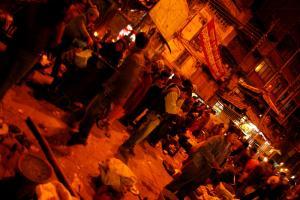 カトマンズの夜の広場の画像