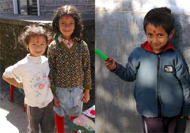 ポカラで出会った子供達の画像