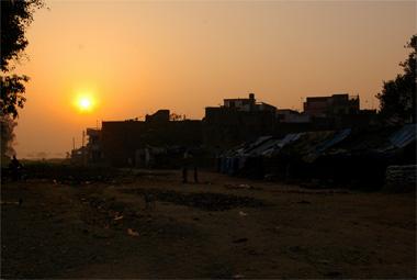 インド、ネパール間の無国境地帯の画像