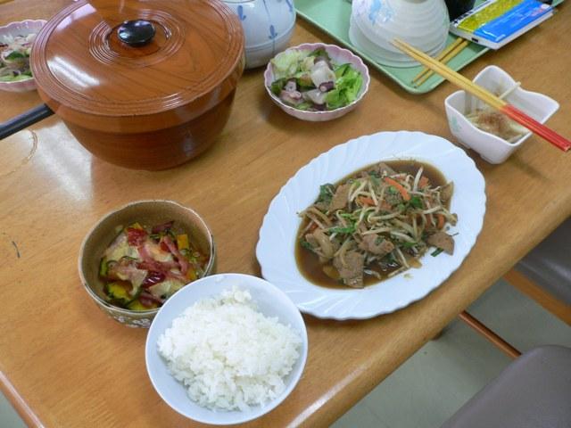 民宿の夕食