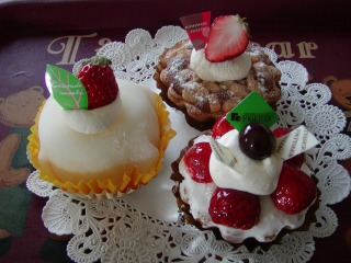 苺のケーキ