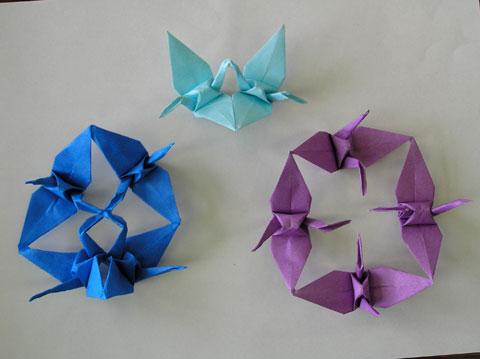 簡単 折り紙 折り紙連鶴折り方 : yasuraginomori.blog8.fc2.com