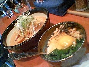 冷やし麺with肉味噌ごはん