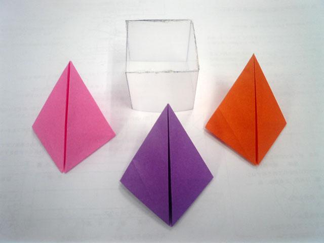 クリスマス 折り紙 : 折り紙 立方体 : yasuraginomori.blog8.fc2.com